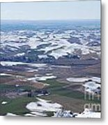 Snow Remnants On The Palouse Metal Print