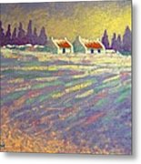 Snow Scape County Wicklow Metal Print by John  Nolan