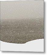 Snow Sea Sky Metal Print