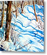 Snow Shadows Metal Print