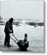 Snow Storm Minneapolis Metal Print