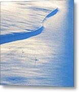 Snow Sunlight And Shadows Metal Print