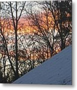 Snow Sunset Metal Print