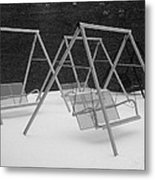 Snow Swings Metal Print