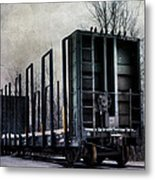 Snow Train Metal Print