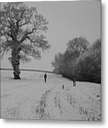 Snow Walkers Metal Print
