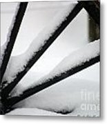 Snow Wheel Metal Print