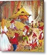 Snow White And The Seven Dwarfs Metal Print