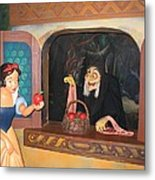Snow White With Apple Metal Print
