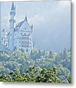 Snow White's Palace In Morning Mist Metal Print