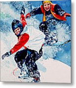 Snowboard Psyched Metal Print