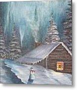 Snowbound Holiday Metal Print
