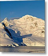 Snowcapped Mountain, Andvord Bay Metal Print