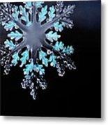 Snowflake In Window 20471 Metal Print