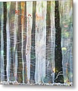 Snowing In The Ice Forest Metal Print