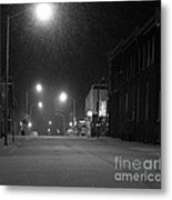 Snowing On W. Fourth St. Metal Print by Julie Dant
