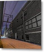 Snowlit Alley Metal Print