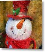 Snowman Photo Art 19 Metal Print