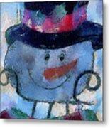Snowman Photo Art 34 Metal Print