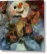 Snowman Photo Art 47 Metal Print