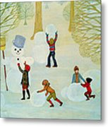 Snowmen Metal Print by Ditz
