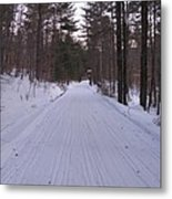 Snowmobile Trail Metal Print