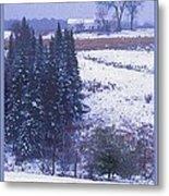Snow's Arrival Metal Print by Joy Nichols