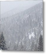 Snowscape Taos II Metal Print by Bobbi Bennett