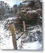 Snowstorm The Day After Metal Print
