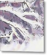 Snowtract Metal Print