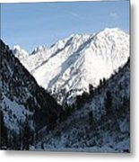 Snowwhite Mountain Top Metal Print