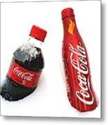 Snowy Coca - Cola Metal Print
