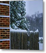 Snowy Corner Metal Print