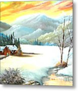 Snowy Country Metal Print