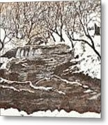 Snowy Creek Metal Print by Leo Gehrtz