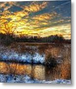 Snowy Dawn At South Ore Creek Metal Print