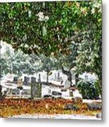 Snowy Day At The Cemetery - Greensboro North Carolina Metal Print