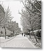 Snowy Day In Madrid Metal Print