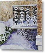 Snowy Ironwork Metal Print