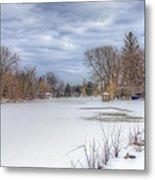 Snowy Lake Metal Print