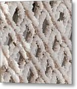 Snowy Lattice Vertical Metal Print