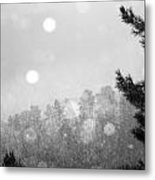 Snowy Mountain Metal Print