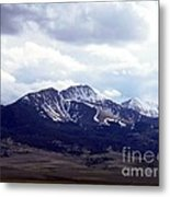 Snowy Mountains In Spring Metal Print