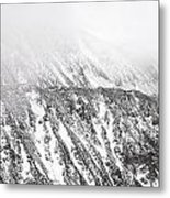 Snowy Ridge Abstract Metal Print