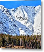 Snowy Ridge Metal Print