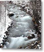 Snowy River At Mt. Hood Metal Print