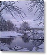 Snowy River Bend Metal Print