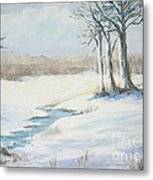 Soft As Snow Metal Print