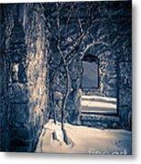 Snowy Ruins At Night Metal Print