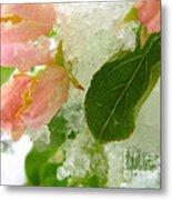 Snowy Spring 1 - Digital Painting Effect Metal Print